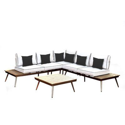 Wisner 3 Piece Sectional Seating Group with Cushions  AllModern Wisner 3 Piece Sectional Seating Group with Cushions  AllModern Orren Ellis Wisner 3 Piece Sectional Seati...