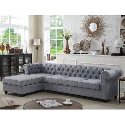Mulhouse Furniture Garcia Sectional Color Gray Living Room Sofa Design Living Room Sets Sofa Design