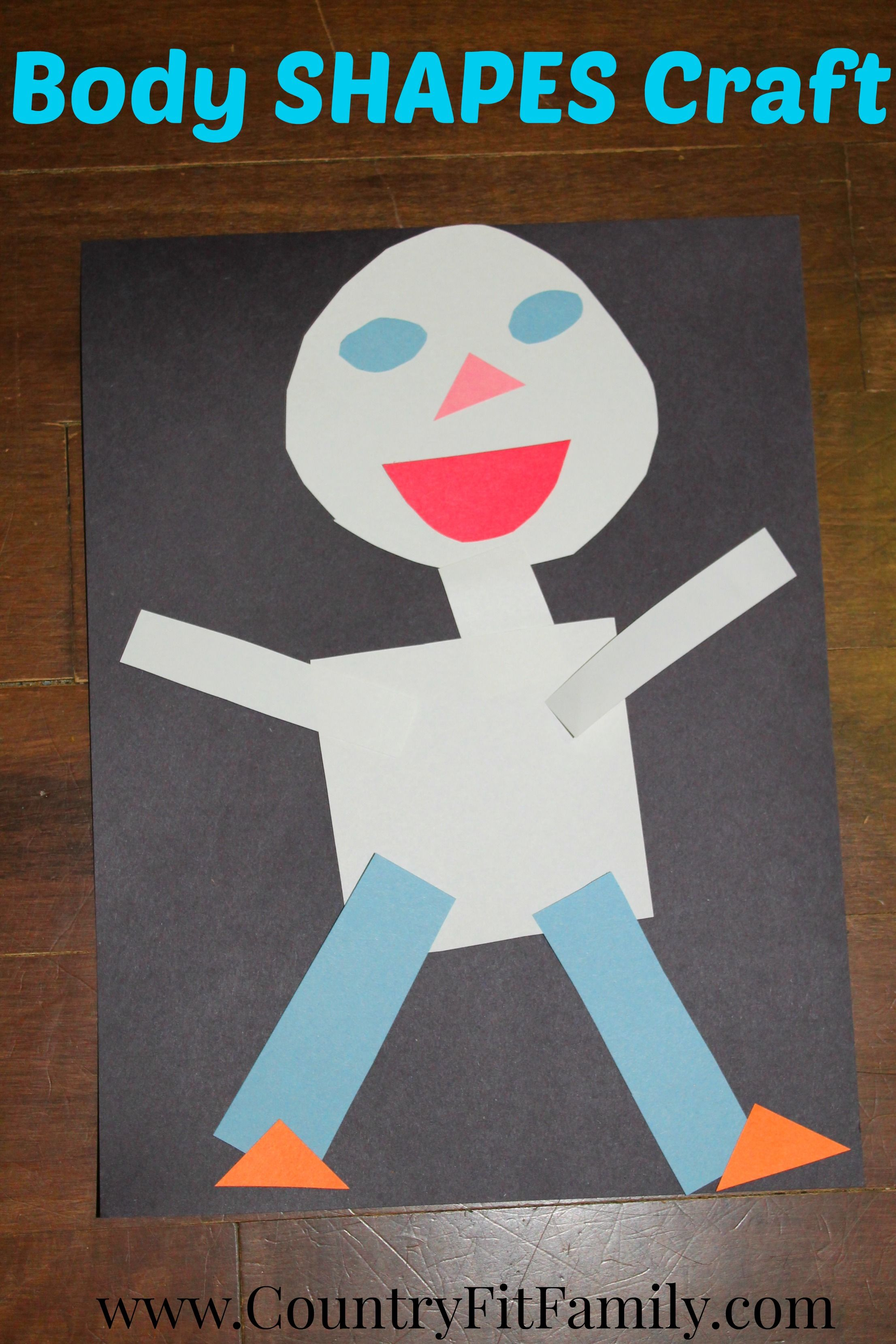 Body Shapes Craft For Preschoolers
