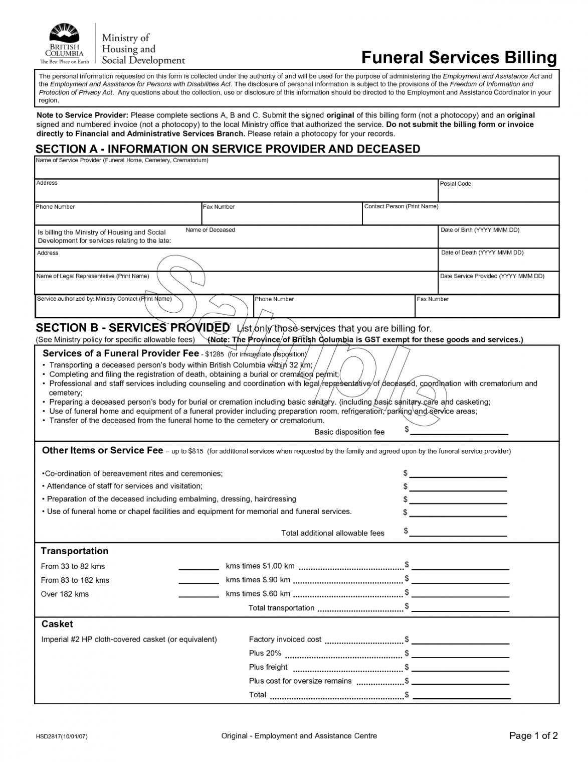 Browse Our Sample Of Funeral Home Invoice Template Invoice Template Funeral Services Funeral