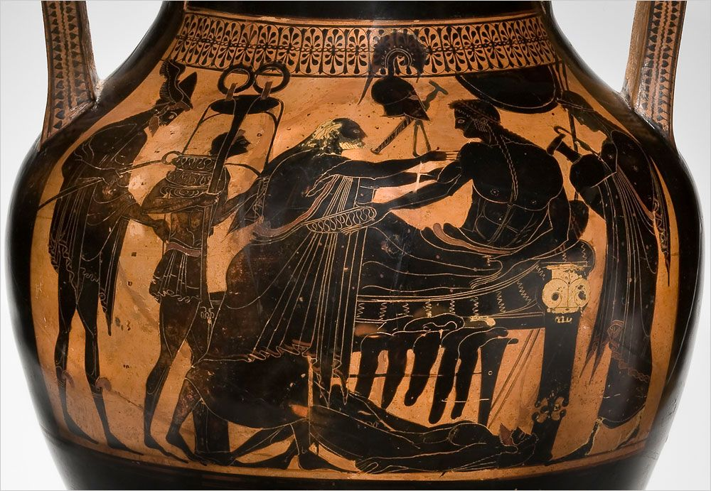 Image result for Achilles and priam greek vase