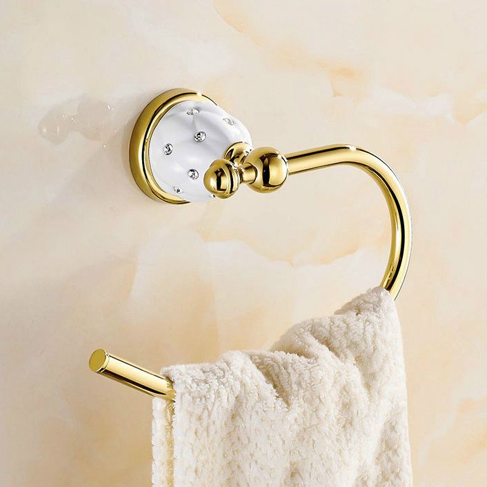 Antique Gold Diamond Brass Towel Ring Bathroom Accessories Products Towel Holder Towe Brass Toilet Paper Holder Modern Towel Rings Bathroom Accessories Luxury