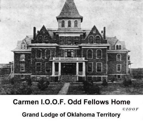Odd Fellows Home, Grand Lodge Of Oklahoma Territory