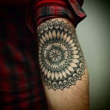 Resultado de imagem para mandala forearm tattoo men