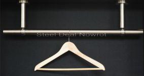 Steel Deal Onlineshop für Edelstahl Geländerkleinteile und Garderobenstangen - Edelstahl Garderobenstange Kleiderstange für Wand Decken Montage