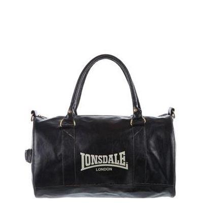 Lonsdale Boxer Slouchy Pvc Medium Bag Bags Black