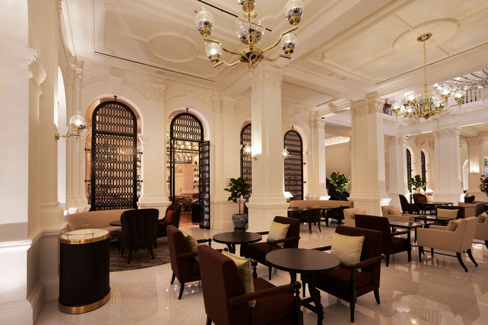 First Look 9 Stunning Design Elements We Love At Raffles Hotel Singapore Singapore Tatler Singapore Architecture Grill Design Colonial Style