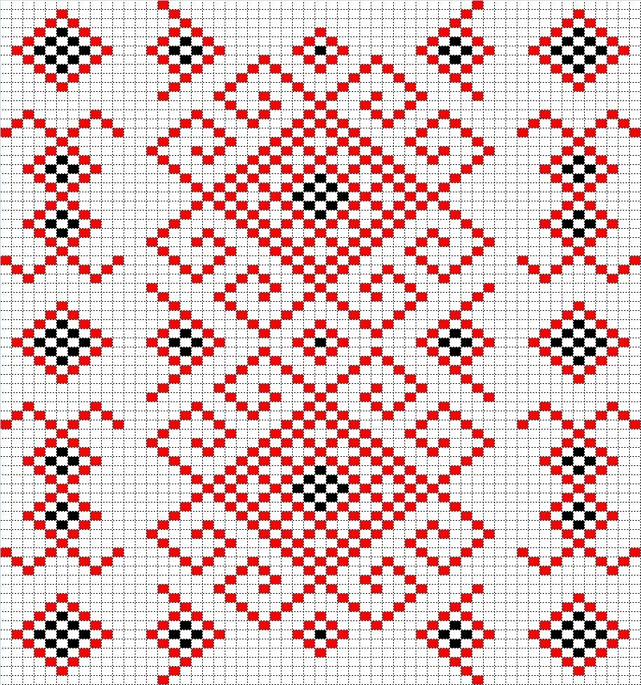 узор калина схема вышивки крестом