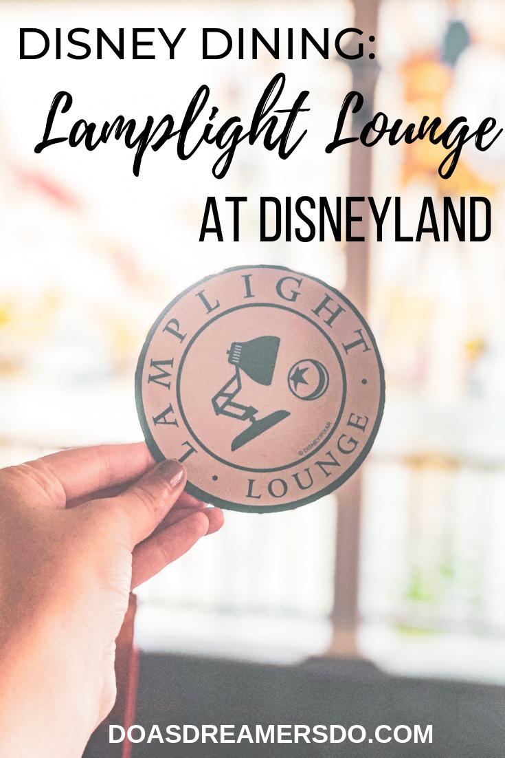 Disney Dining: Lamplight Lounge at Disneyland #disneylandfood