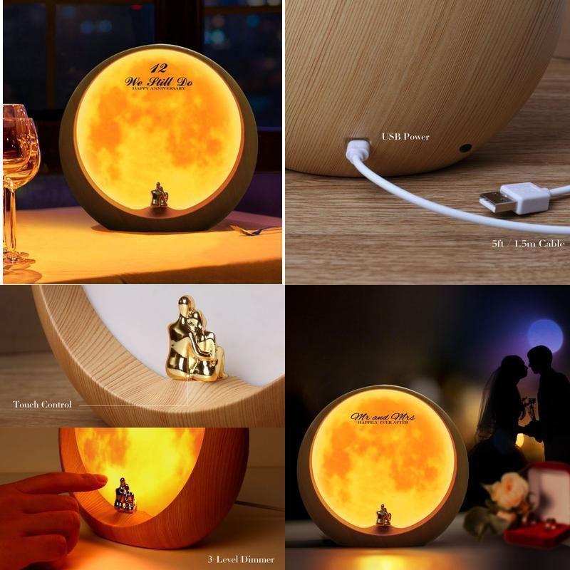 Moon Ambient Light DIY Anniversary Wedding Valentines Day Gift Ideas Art Décor