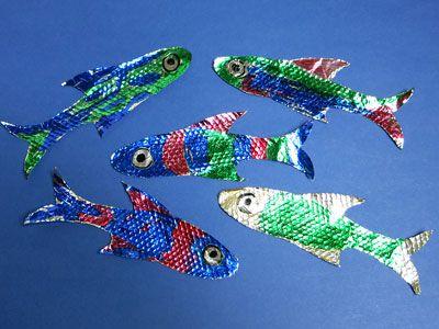 Bastelanleitung Für Fische Regenbogenfisch Fisch