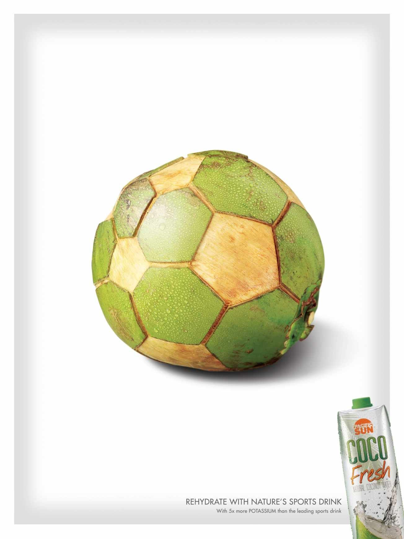 Coco Fresh Soccer Ball Ads Of The World Ads Creative Creative Advertising Graphic Design Advertising