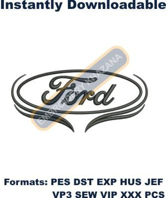 Ford Car Logo Embroidery Design Download Embroidery Design Download Embroidery Logo Embroidery Designs