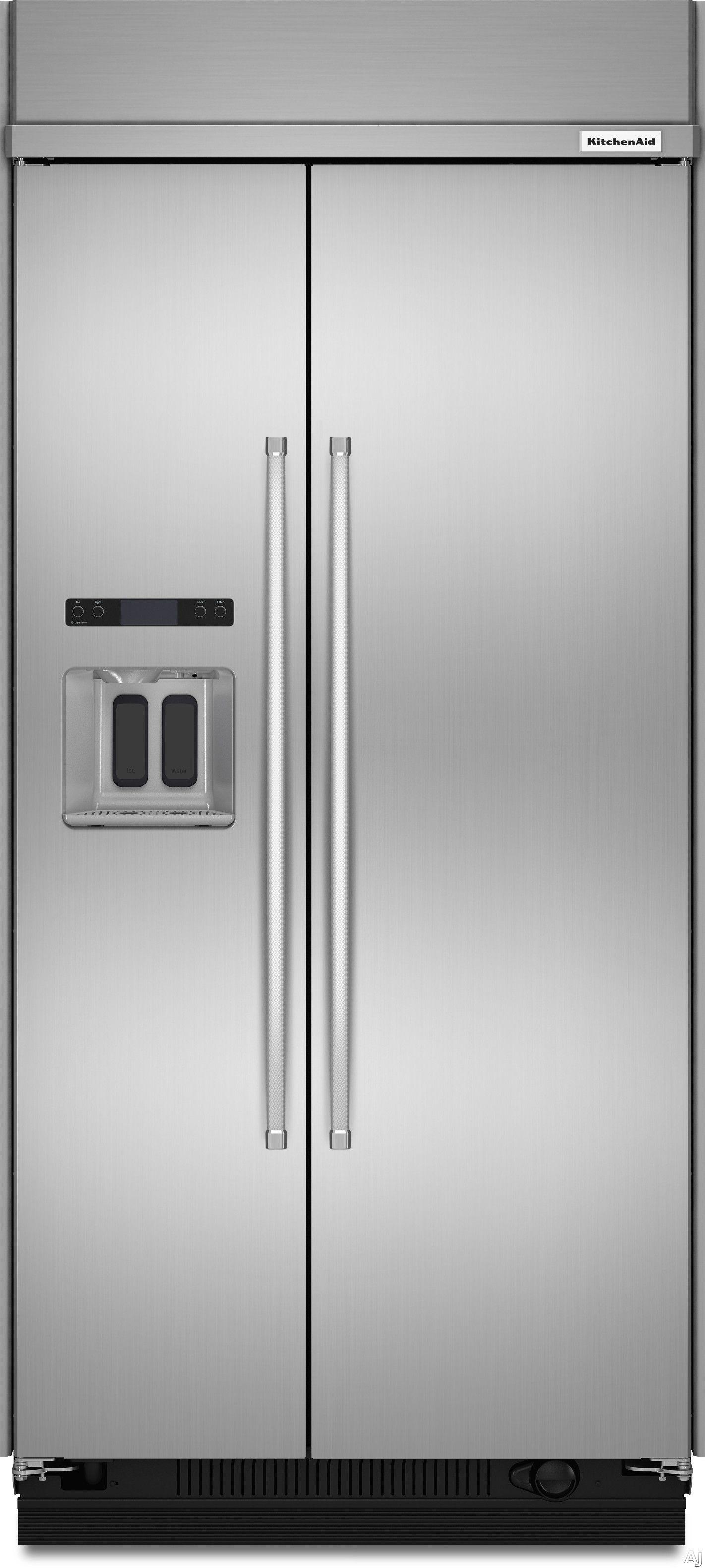 Jennair 42 inch builtin side by side refrigerator built