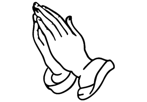Hand Praying Coloring Page | Hand tattoos for girls ...