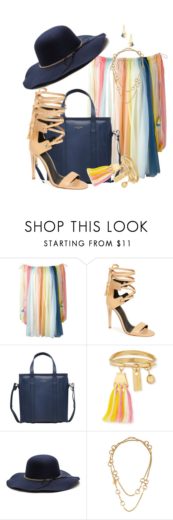 """COLOURS by DaNewMeh"" by thchosn ❤ liked on Polyvore featuring Chloé, Rebecca Minkoff, Balenciaga, Gucci and Ben-Amun"