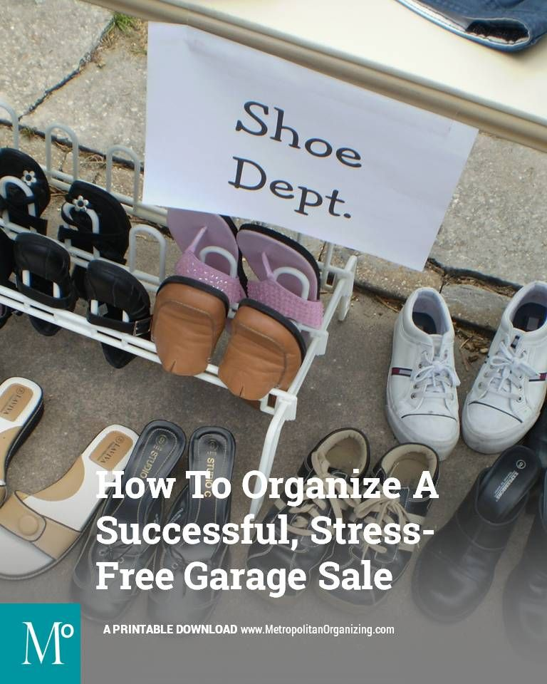 Checklist Organizing A Successful Stress Free Garage Sale 2019 Pro Organizer