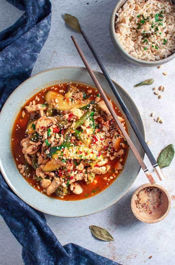Sugar Free Stir fry Sauce with Chicken & Veg   Recipe   Clean eating chicken recipes, Clean ...
