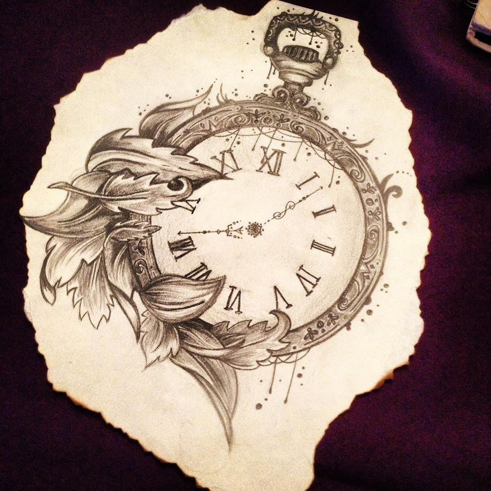 Pocket Watch Drawings: Pocket Watch, Pencil Drawing