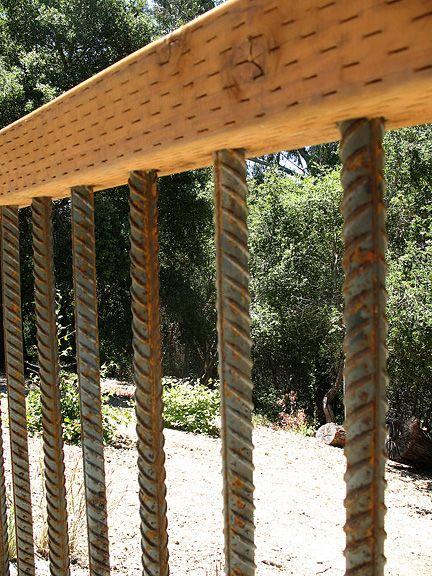 Look Fencing Rebar Railing Stair Patio Stairs Porch Railings Banisters