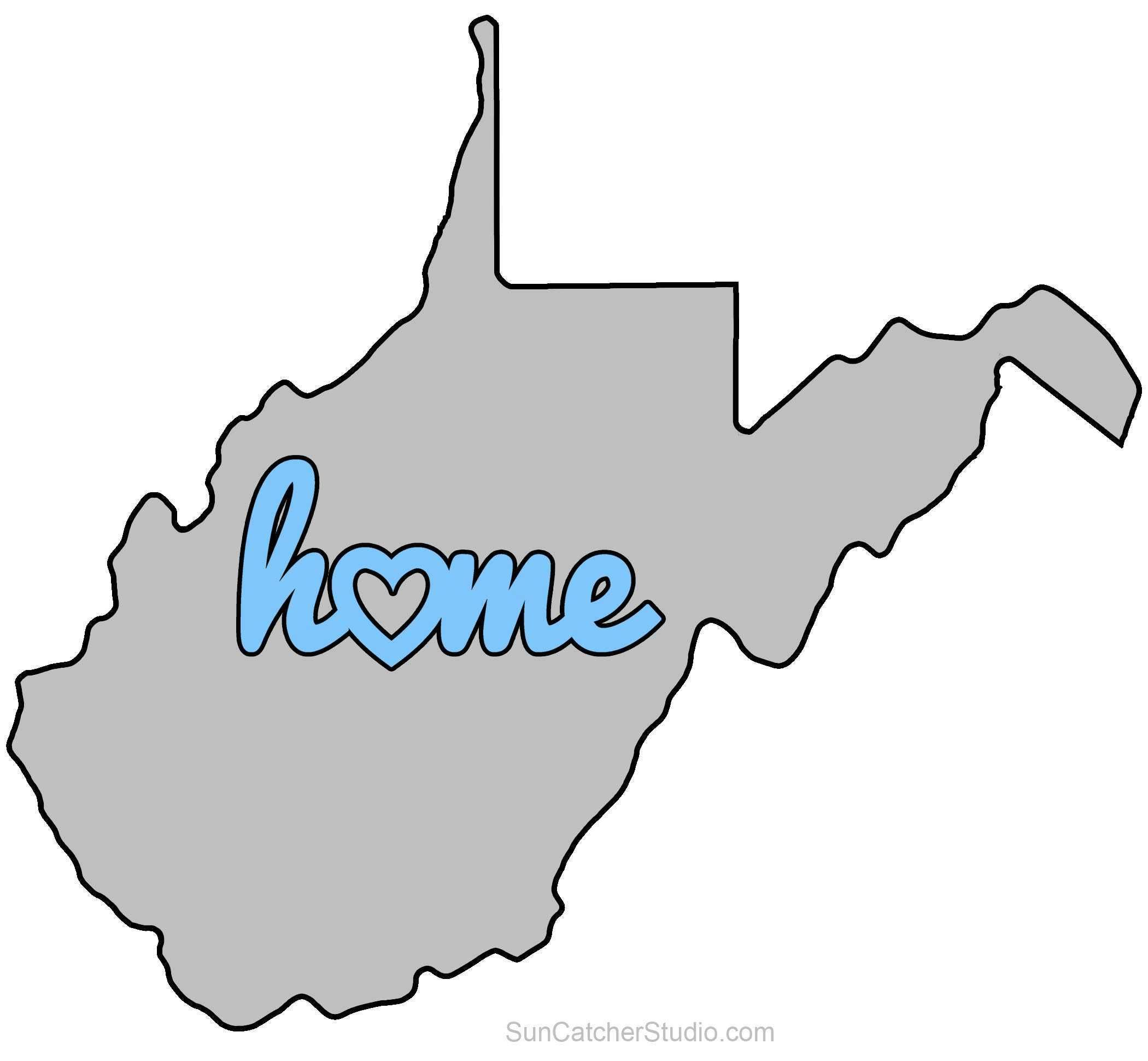 Strange West Virginia Map Outline Printable State Shape Stencil Home Interior And Landscaping Ymoonbapapsignezvosmurscom