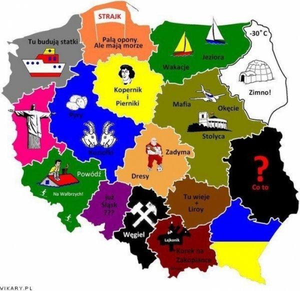 Poland Polska Mapa Skojarzen I Stereotypow Polen Thinking Day Geschichte