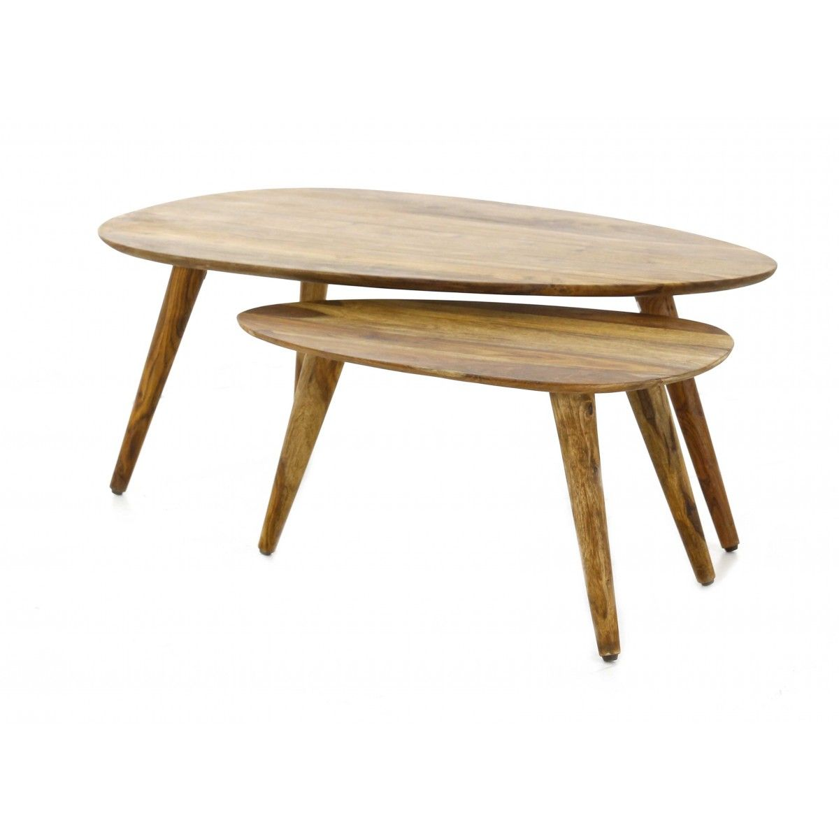Tables gigognes en bois palissandre style vintage | Zago ...
