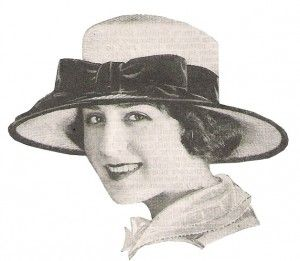 1920s Hat Styles for Women Beyond the Cloche Hat - Straw Garden Hat with  Bow- the most common style in the early twenties. Straw Garden Hat with Bow 6ba27249785