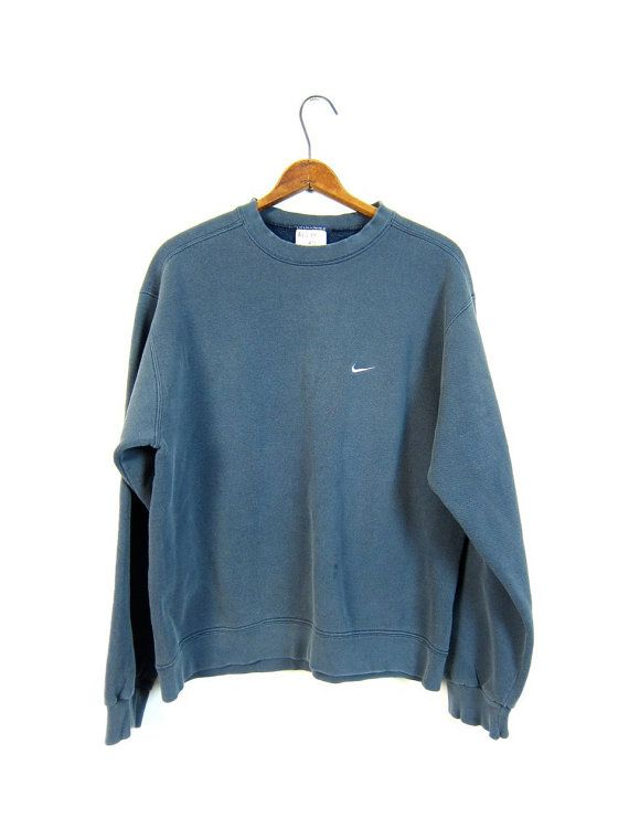 Faded Blue Nike Sweatshirt Washed Out by dirtybirdiesvintage