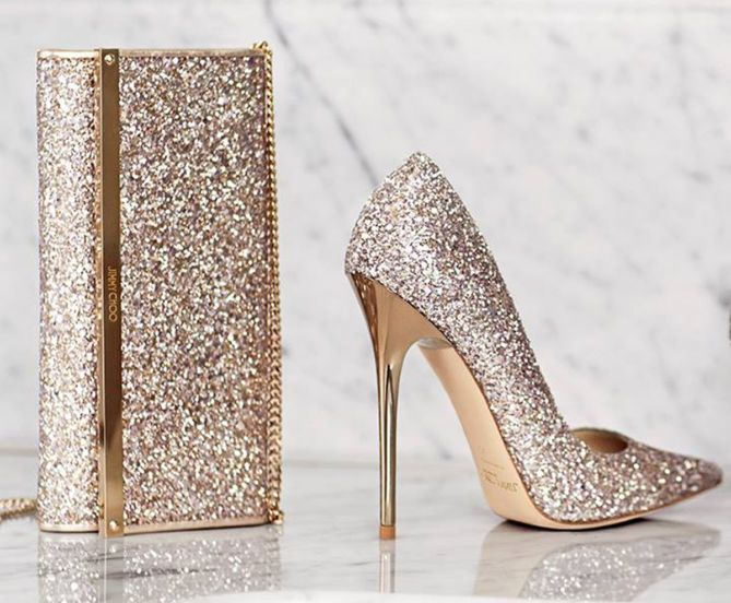 Jimmy Choo Abel Glitter Pointed-Toe Pump, Nude | Buy ➜ http ...