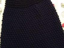 dunkelblauer Cape aus kuschliger Wolle