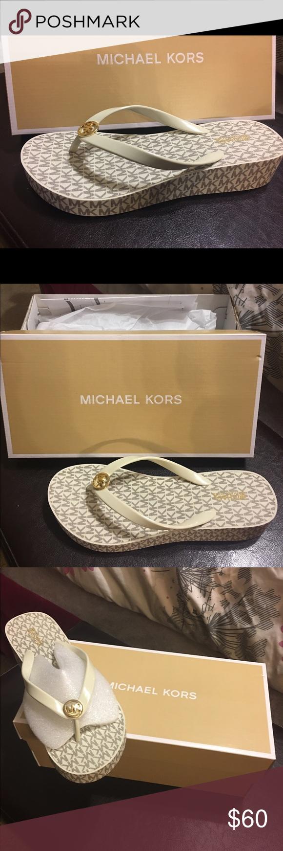 Michael Kors Flip Flops Brand New. Never Wore them. Size 8. In box still Michael Kors Shoes