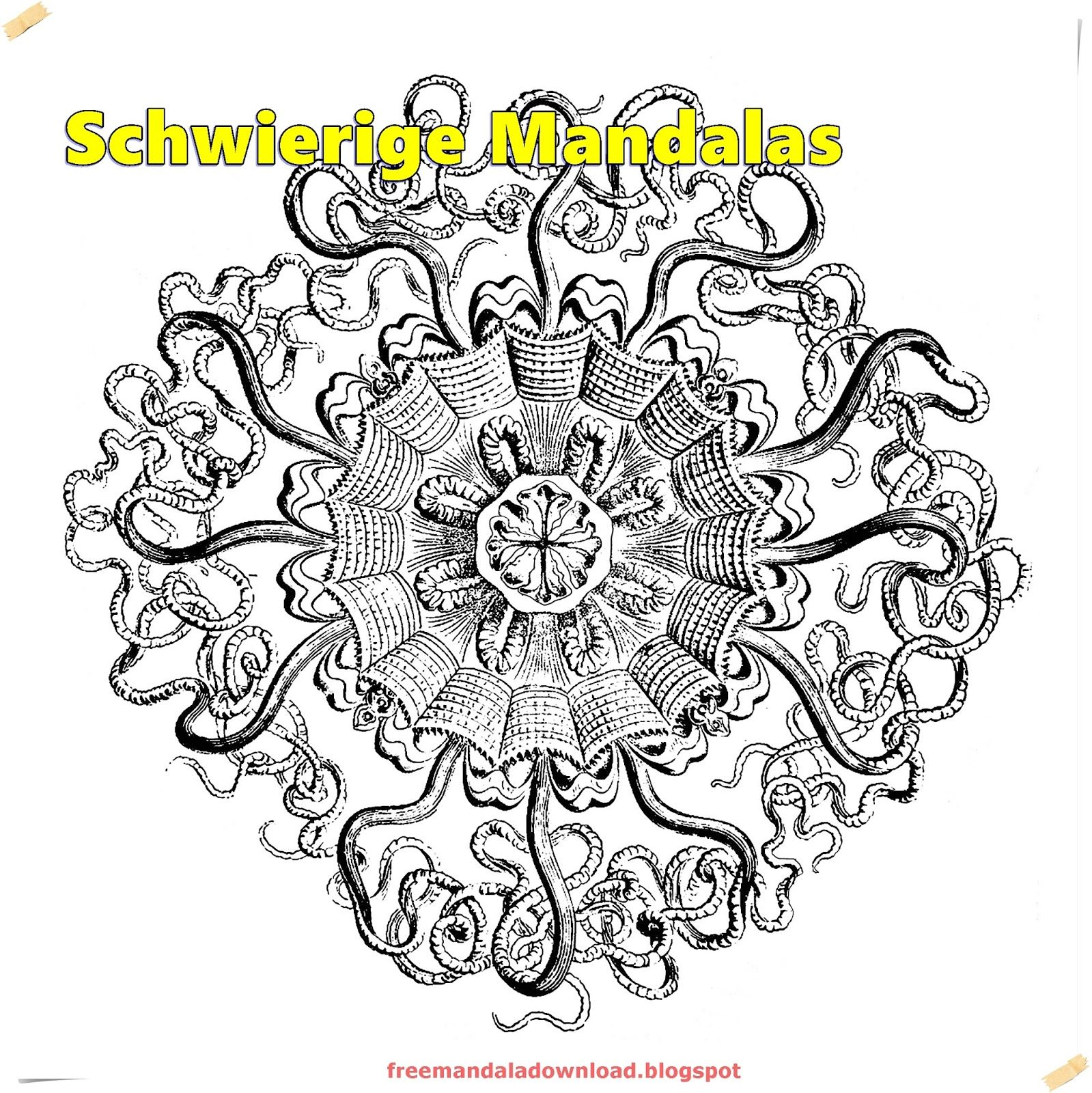 Schwierige Mandalas Für Erwachsene/Difficult Mandalas | Free Mandala ...