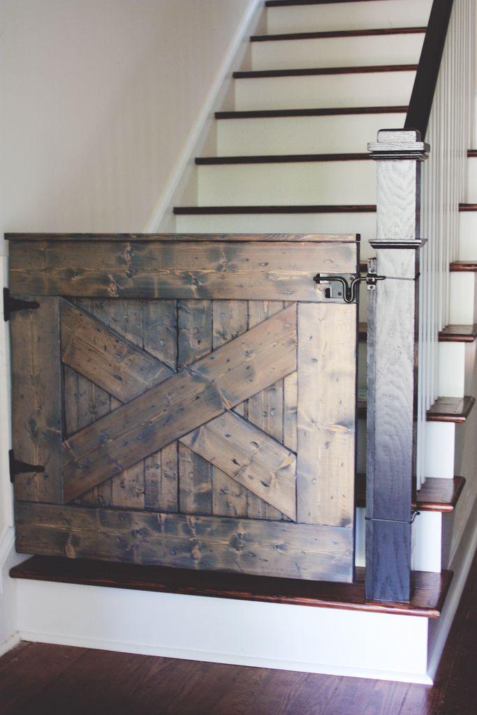 10 Diy Baby Gates For Stairs Barn Door Baby Gate Stair Gate Dutch Doors Diy