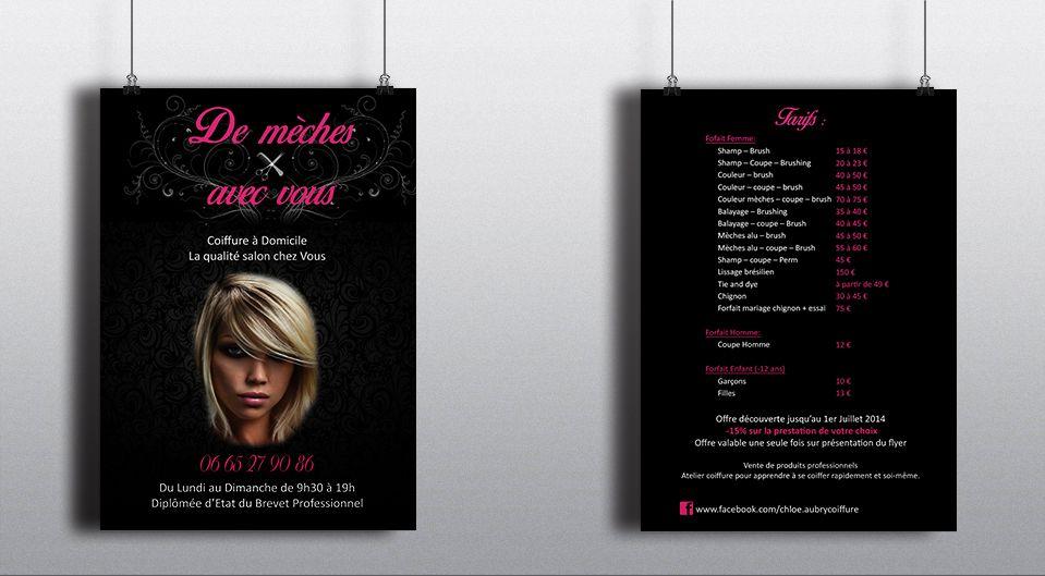 29++ Flyer coiffure a domicile des idees