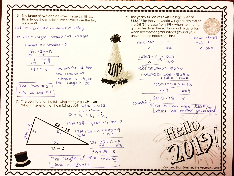 Hello Mixed Algebra Review