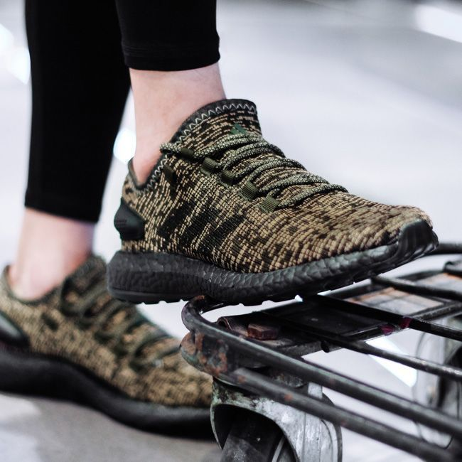 248413d59 adidas Pure Boost Night Cargo On Feet