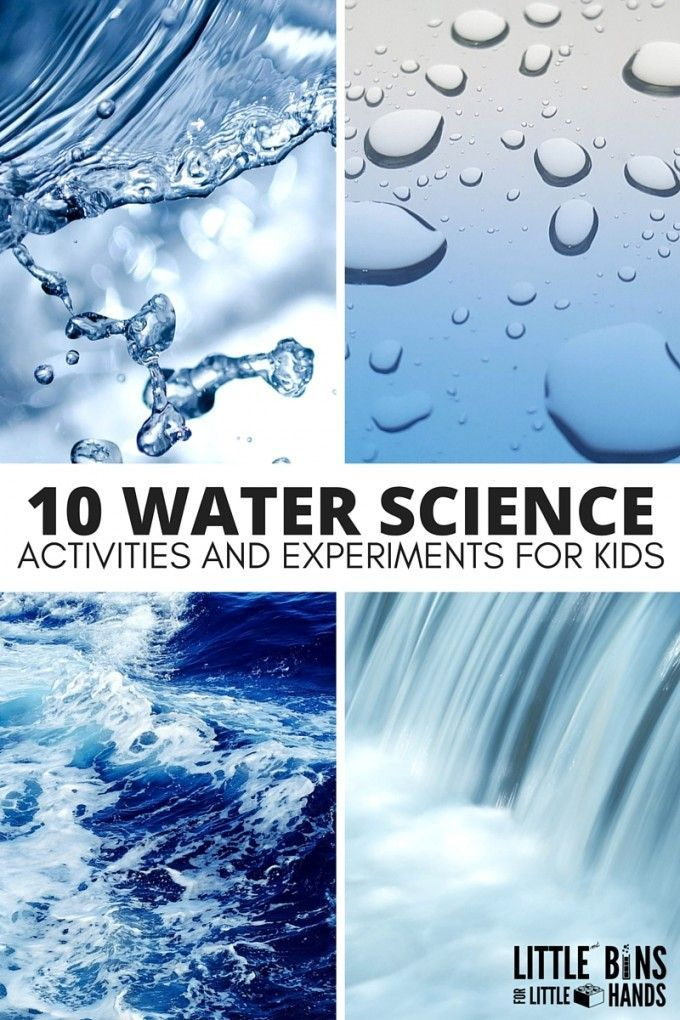 Water Science Activities For Kids Stem Science Lab Pinterest