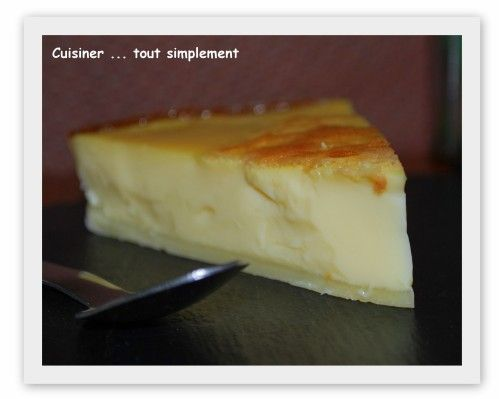 Flan Patissier sans Pâte et au Soja - Cuisiner... tout Simplement, Le Blog de c... #flanpatissier