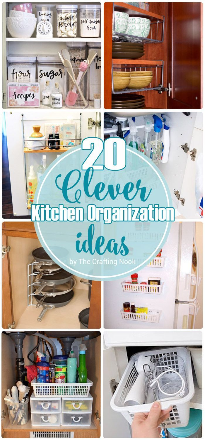 20 Clever Kitchen Organization Ideas | Organisation ideas, Clever ...