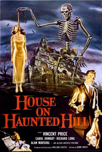 More murder mystery than horror film, it still has one of the best jump scares in a movie, ever.  Also, you can't go wrong with Vincent Price.