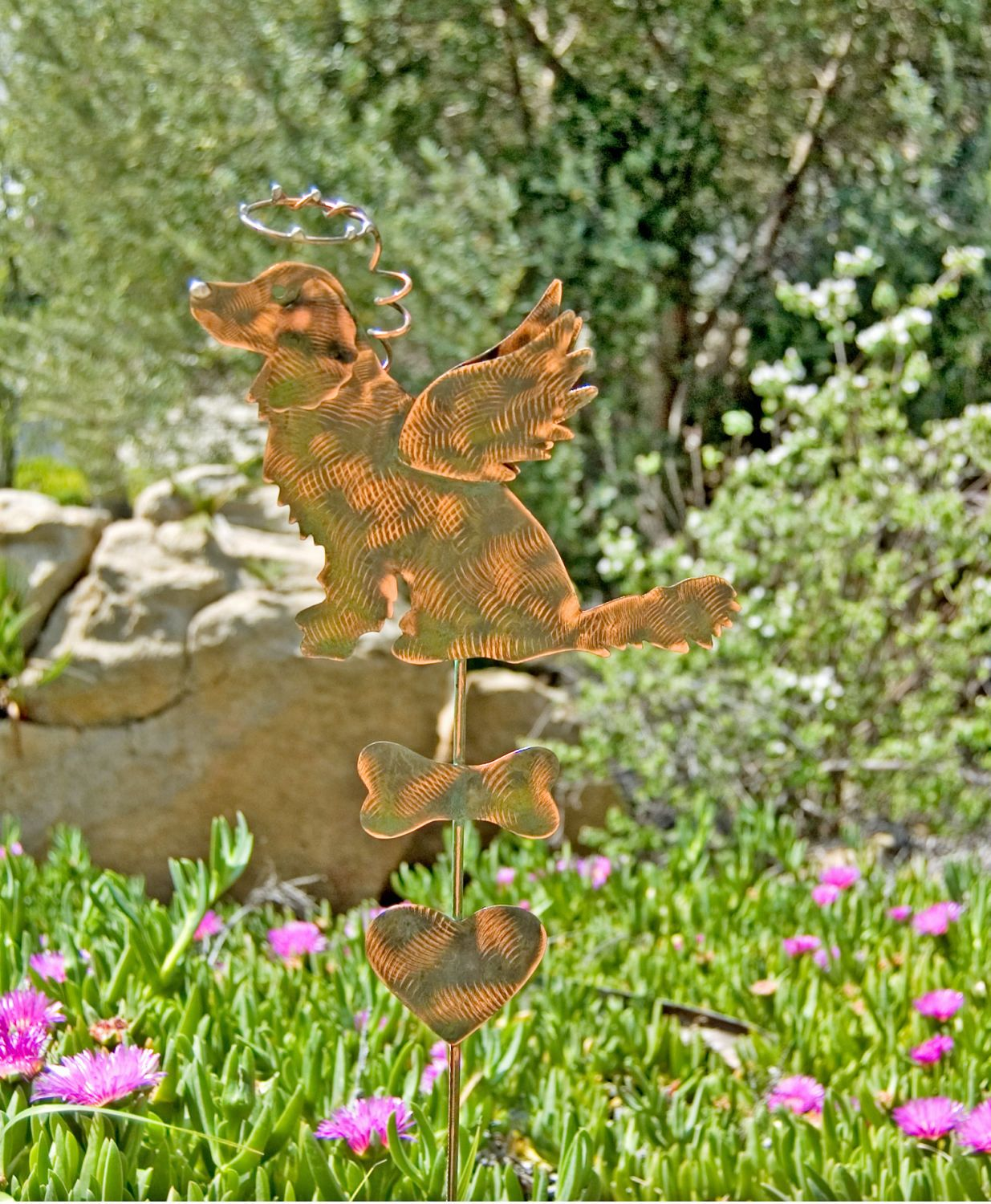 Golden Retriever Pet Memorial Garden Stake / Metal Garden Art / Copper Art  / Grave Marker