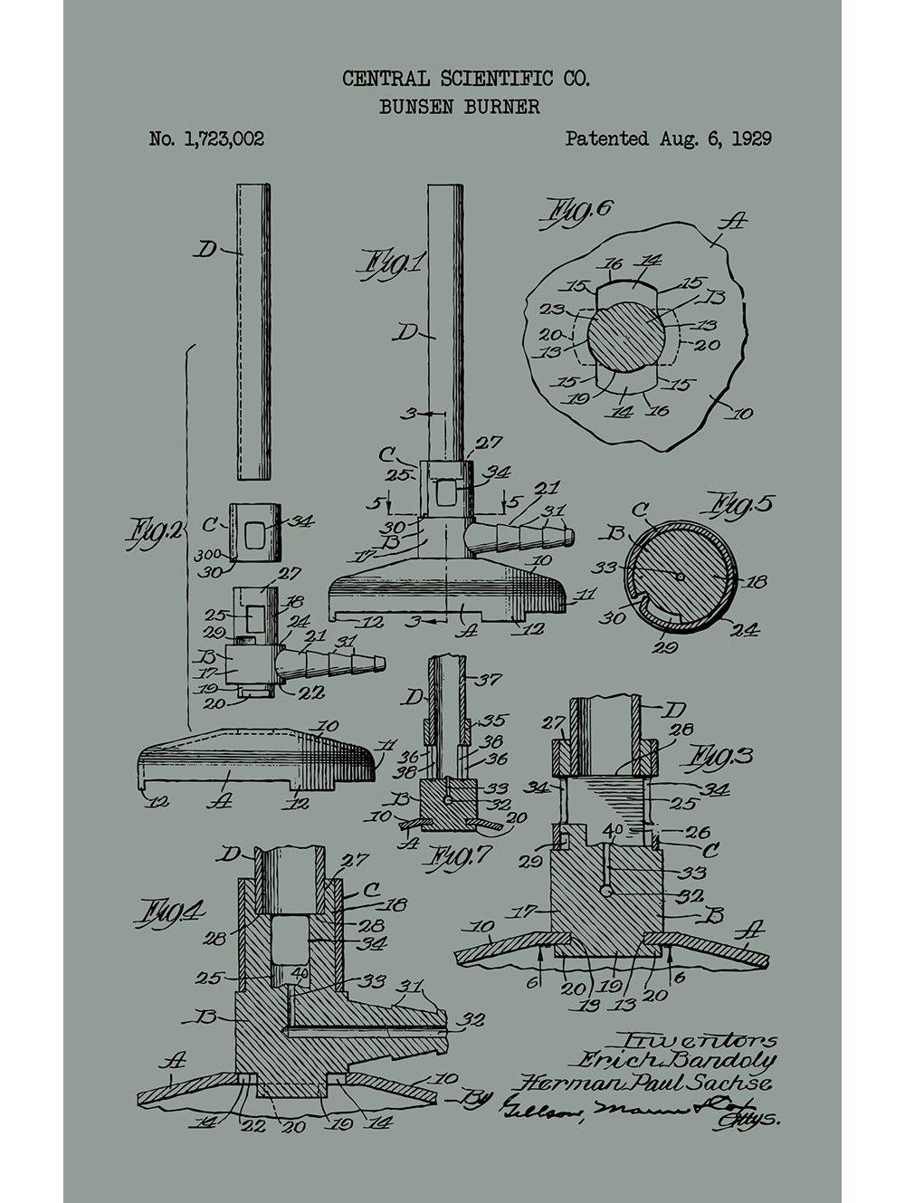 Bunsen Burner Central Scientific Co 1929 Bunsen Burner Order Prints White Ink
