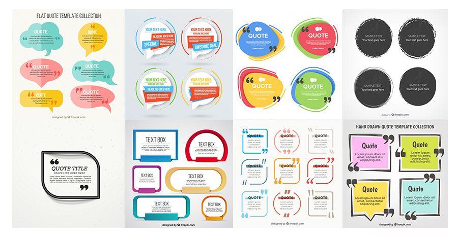 Compilation 43 Free Text Boxes Freepik Blog #graphicdesign