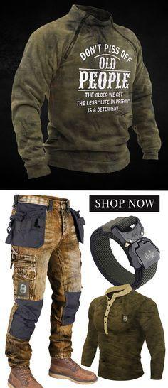 Tactical Wear  Outdoor Clothing   Cargo Trousers   Blaroken Men's Clothing