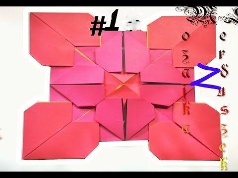Origami Mosaico de corazones - mosaico de corazon de papel - YouTube ...