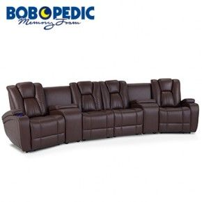 Chandler Brown Power Reclining 6 Piece Home Theater Sectional Discount