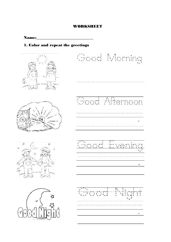 Greetings For Kindergarten Worksheets For Kids English Worksheets For Kids Kindergarten Worksheets