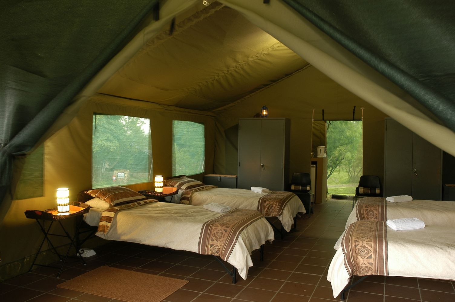 Accommodation at Bush Willow Tented C& comprises ten large comfortable walk-in tents sleeping & Accommodation at Bush Willow Tented Camp comprises ten large ...