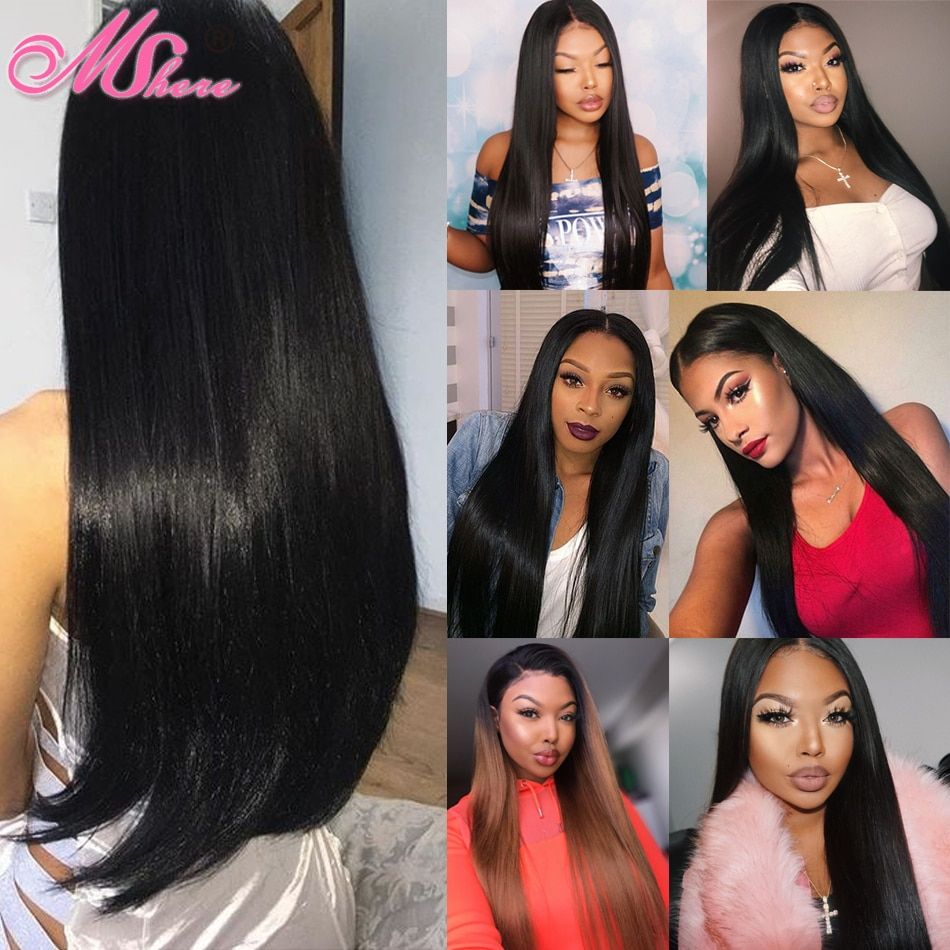 mshere hair straight hair bundles with closure indian non